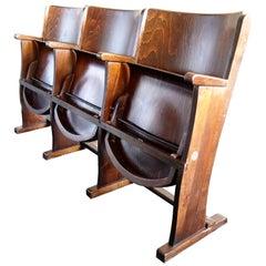 Row of Three Cinema Seats by Thonet, 1950s