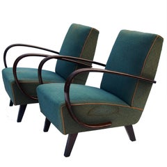 Lounge Chairs by Jindrich Halabala for UP Zavody Brno, 1930s