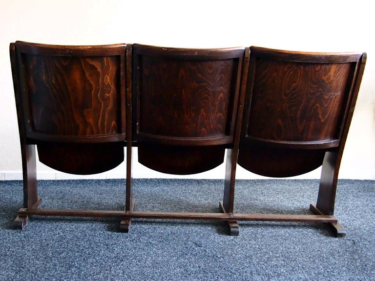 Row of Three Cinema Seats by Thonet, 1950s For Sale 1