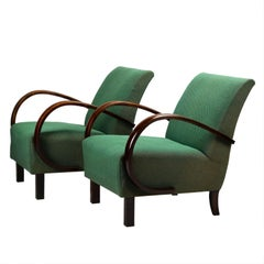 Art Deco Lounge Chairs by Jindrich Halabala for UP Zavody Brno, 1930s