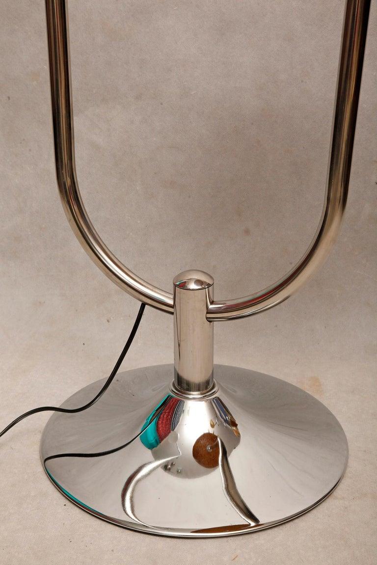 Bauhaus Chromed Floor Lamp by Robert Slezak, 1930s For Sale 7