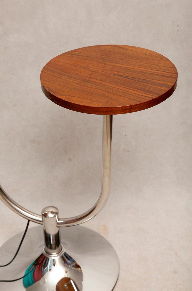Bauhaus Chromed Floor Lamp by Robert Slezak, 1930s For Sale 3