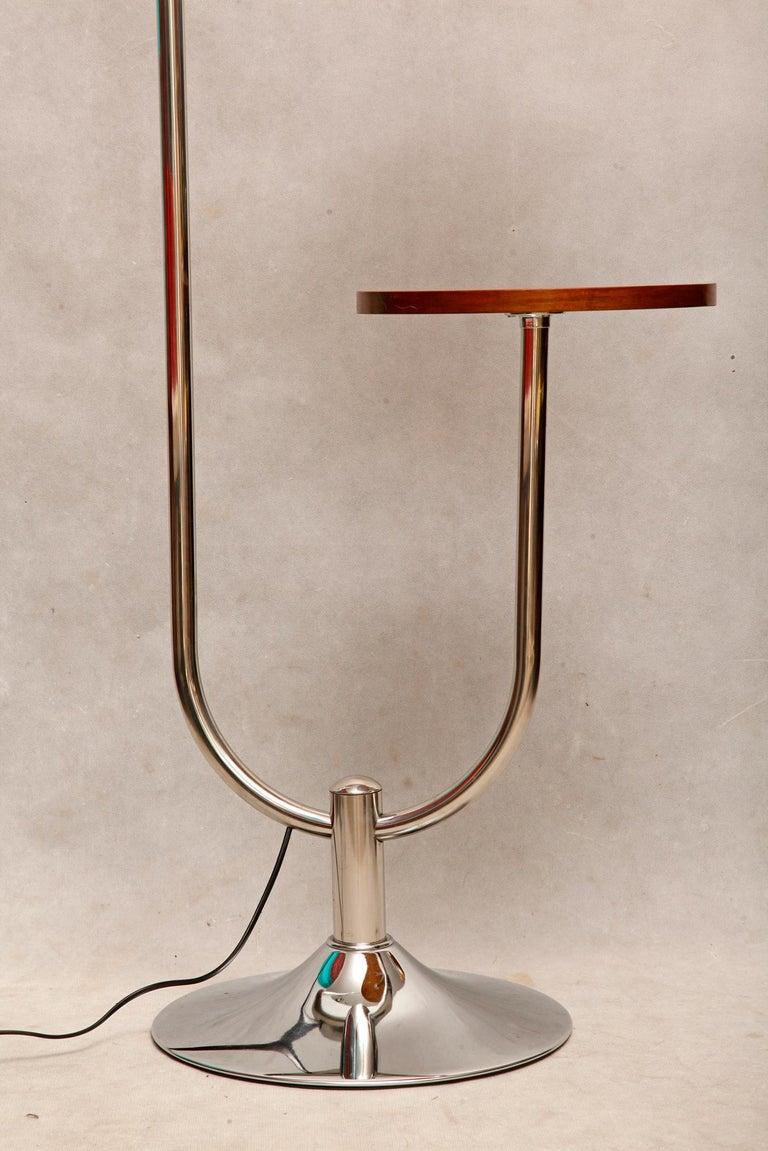 Bauhaus Chromed Floor Lamp by Robert Slezak, 1930s For Sale 4