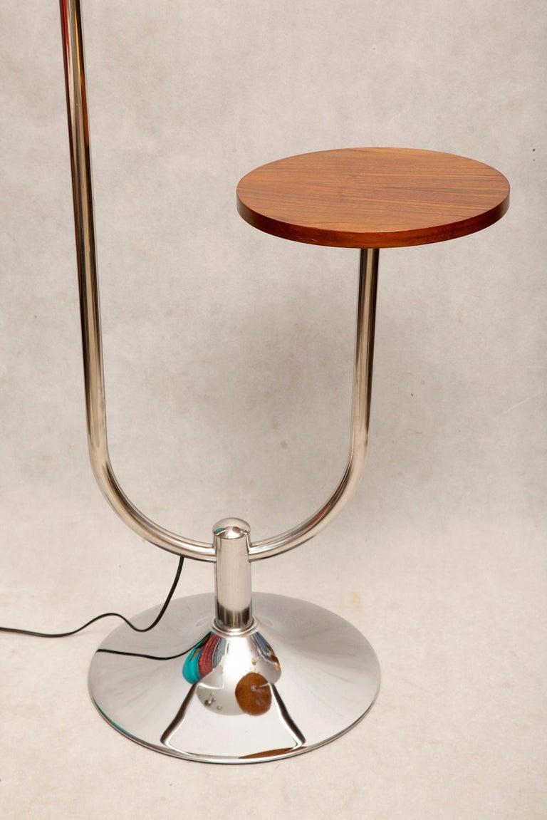 Bauhaus Chromed Floor Lamp by Robert Slezak, 1930s For Sale 5