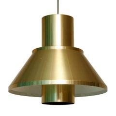 Aluminium Ceiling Lamp by Jo Hammerborg for Fog & Mørup, Denmark, 1960s