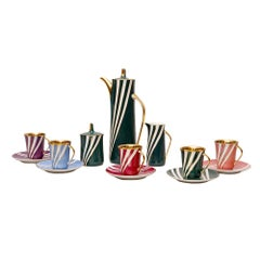 Mid Century Porcelain Coffee Set by Wincenty Potacki for Ćmielów, Poland, 1960s