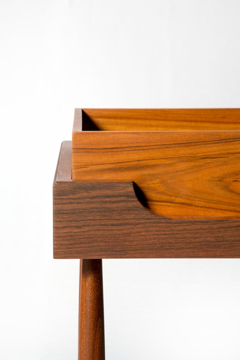 Contemporary Side Table, High Side Table in Brazilian Wood For Sale 4