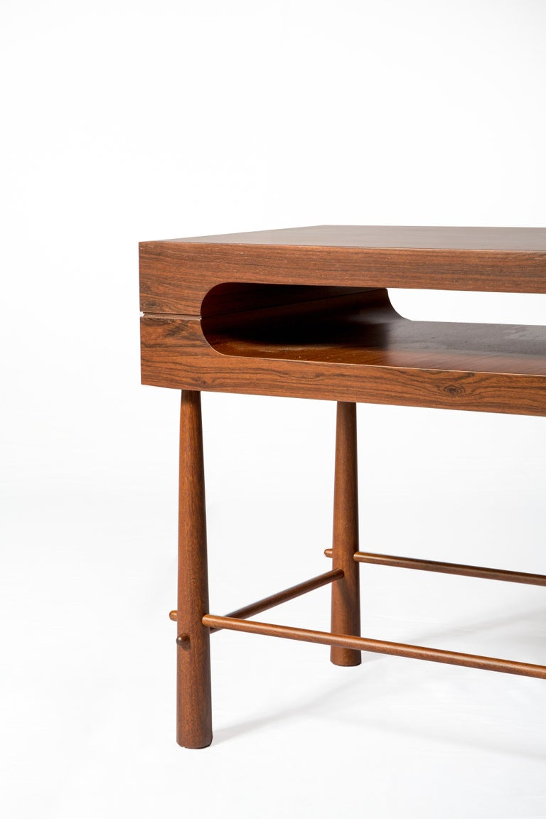 Modern Contemporary Side Table in Brazilian Wood For Sale