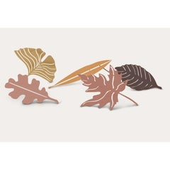 Sculpture Leaves in Brass, Plane Tree, Still Leaves Collection