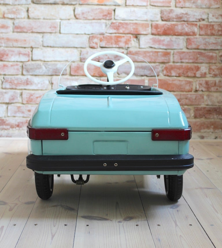 Metal Azak Moskvich Toy Pedal Car in Blue, 1976 For Sale