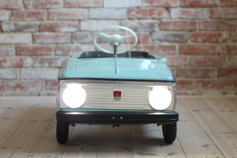 Late 20th Century Azak Moskvich Toy Pedal Car in Blue, 1976 For Sale