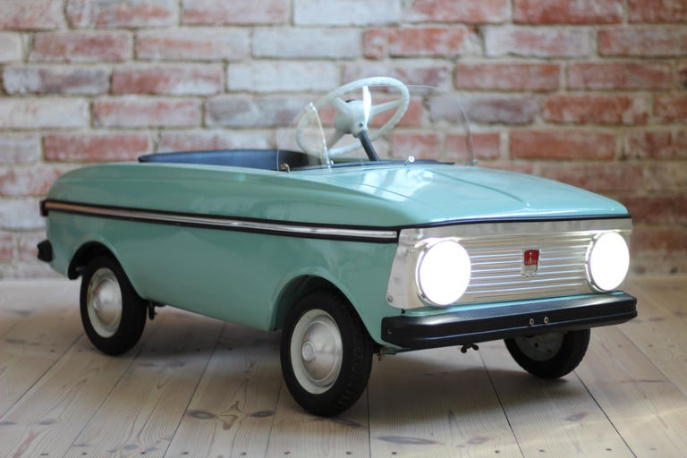 Czech Azak Moskvich Toy Pedal Car in Blue, 1976 For Sale