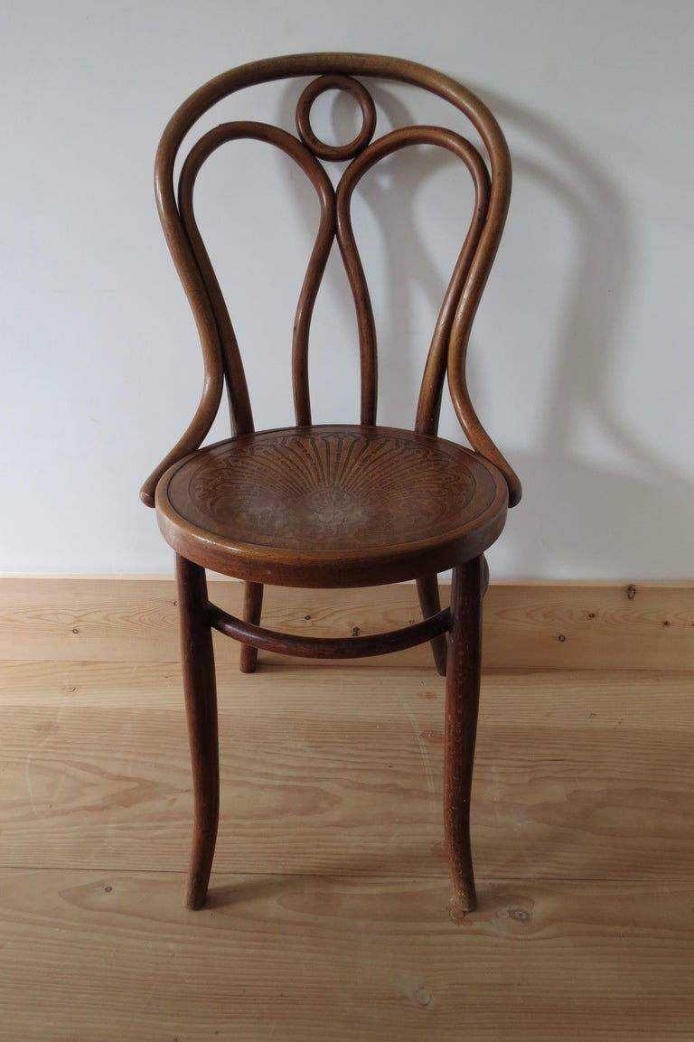 Set of 6 Jacob and Joseph Kohn, Austrian Dining chairs No 36 For Sale 3