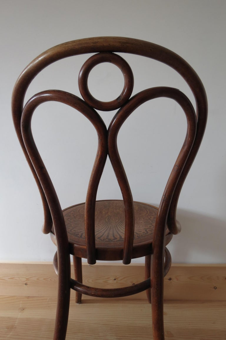 Set of 6 Jacob and Joseph Kohn, Austrian Dining chairs No 36 For Sale 6