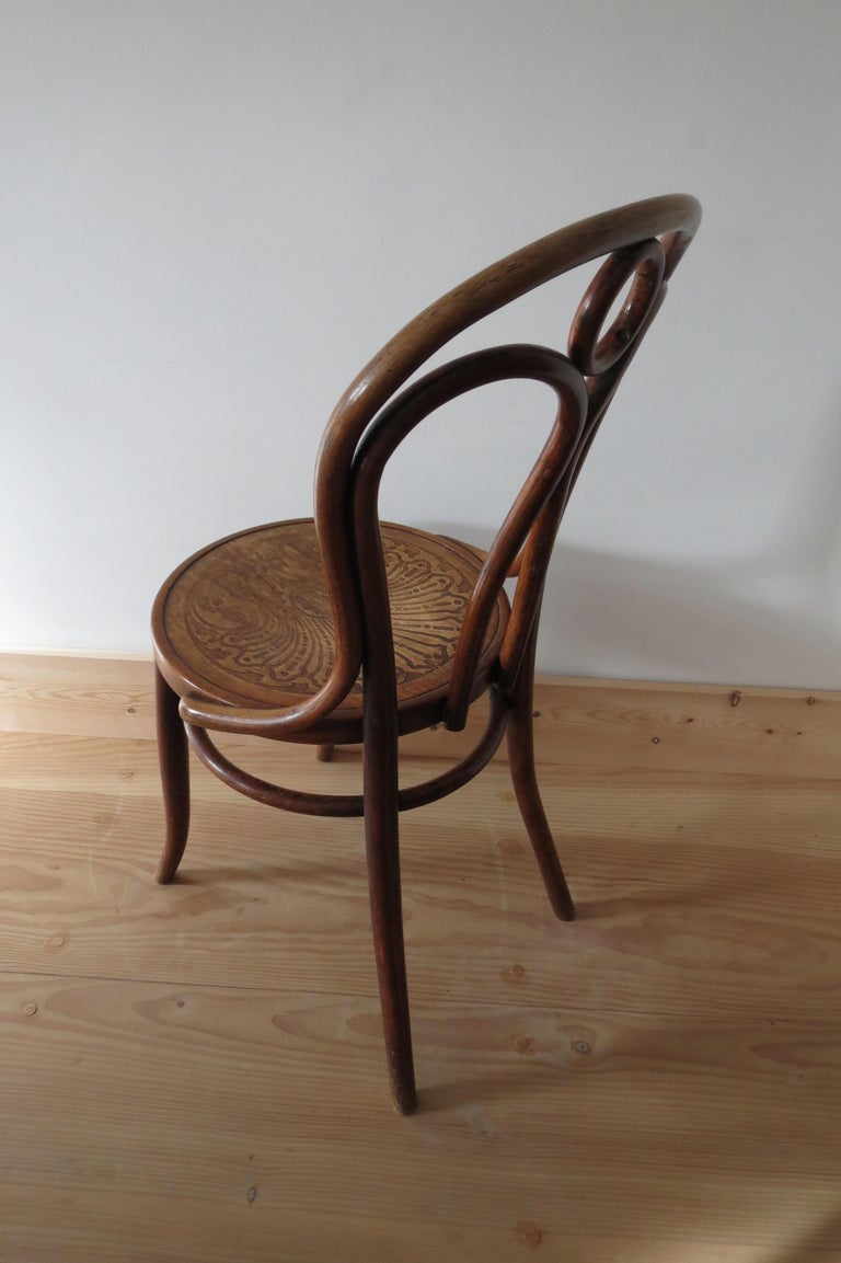 Set of 6 Jacob and Joseph Kohn, Austrian Dining chairs No 36 For Sale 7