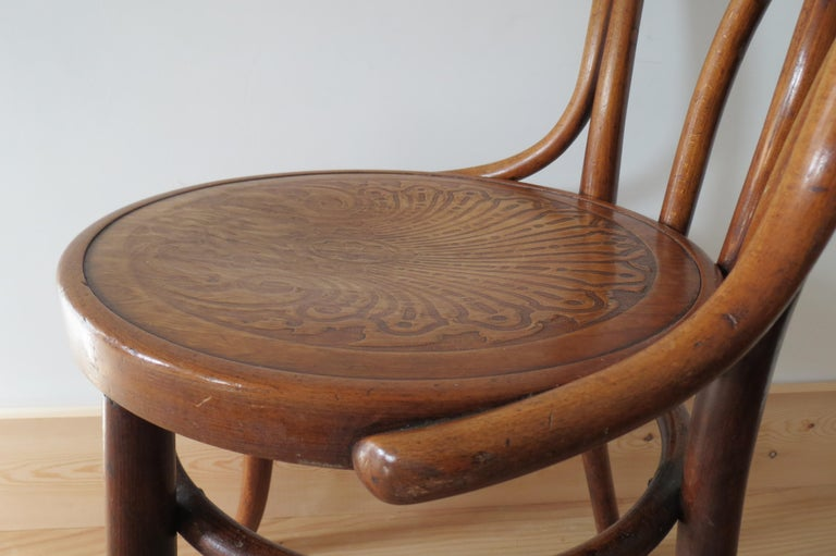 Set of 6 Jacob and Joseph Kohn, Austrian Dining chairs No 36 For Sale 9