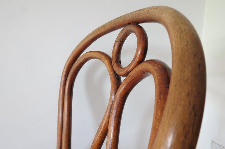 Set of 6 Jacob and Joseph Kohn, Austrian Dining chairs No 36 For Sale 10