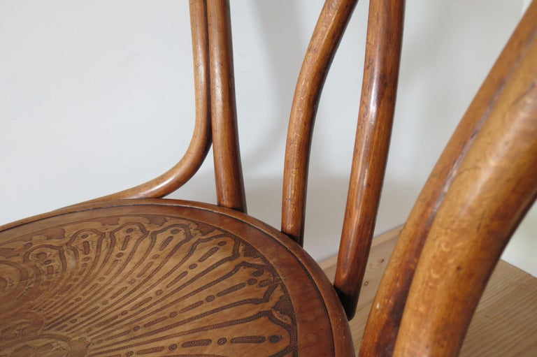 Set of 6 Jacob and Joseph Kohn, Austrian Dining chairs No 36 For Sale 11