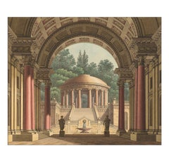 Circular Temple, after Louis XVI Architectural by Josef Platzer