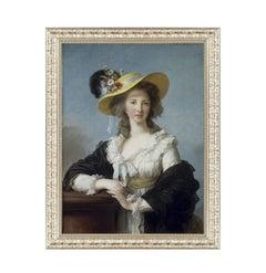 Duchesse de Polignac, after Oil Painting by Rococo Artist Élisabeth Le Brun