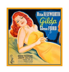 Rita Hayworth Starring in Gilda, after Vintage Movie Poster, Hollywood Regency