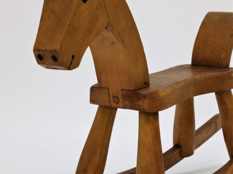 Scandinavian Modern Vintage Kay Bojesen Rocking Horse from the 1930s For Sale