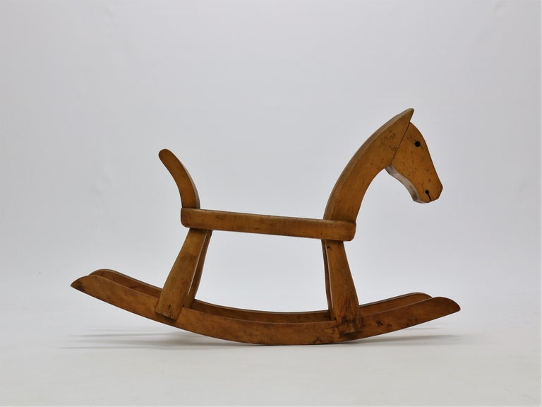 Mid-20th Century Vintage Kay Bojesen Rocking Horse from the 1930s For Sale