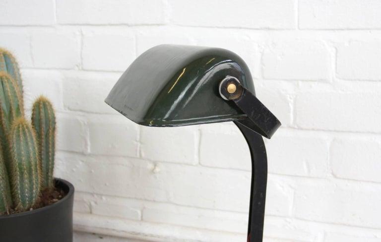 Factory Office Desk Lamp By Viktoria Circa 1920s Code Oa471 Vitreous Green Enamel