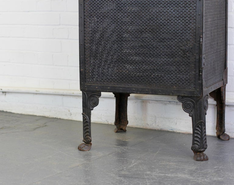 Gothic Revival Blacksmith Made Smoke Cabinet, circa 1880 In Good Condition For Sale In Exeter, GB