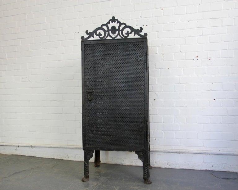 Gothic Revival Blacksmith Made Smoke Cabinet, circa 1880 For Sale 9