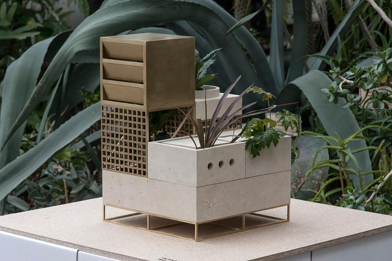 With Plantscape, creative studio Supaform explores the way plants not only survive but also thrive in a hostile environment. In a subtle reference to a post-apocalyptic scenario, this modular installation looks like an architectural structure taken