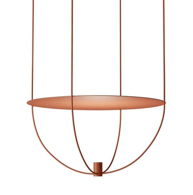 """Thin, Metal-Framed Pendant Lamp from """"Disused Collection"""" For Sale"""