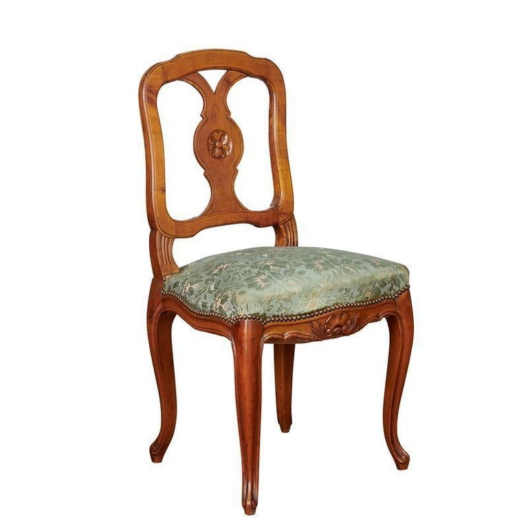Louis Xv French Oak Dining Chairs Set Of Eight Circa 1980 For