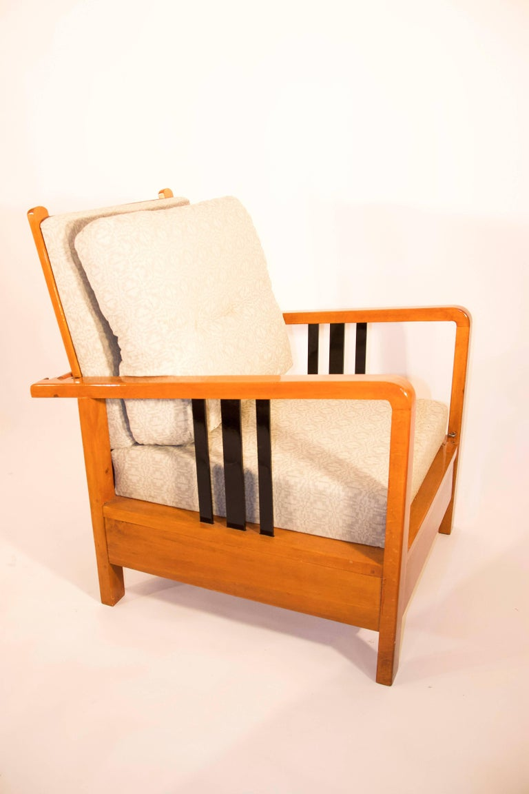 Rare, Kozma Lajos Art Deco Lounge Chair from the 1930s In Good Condition For Sale In Budapest, HU