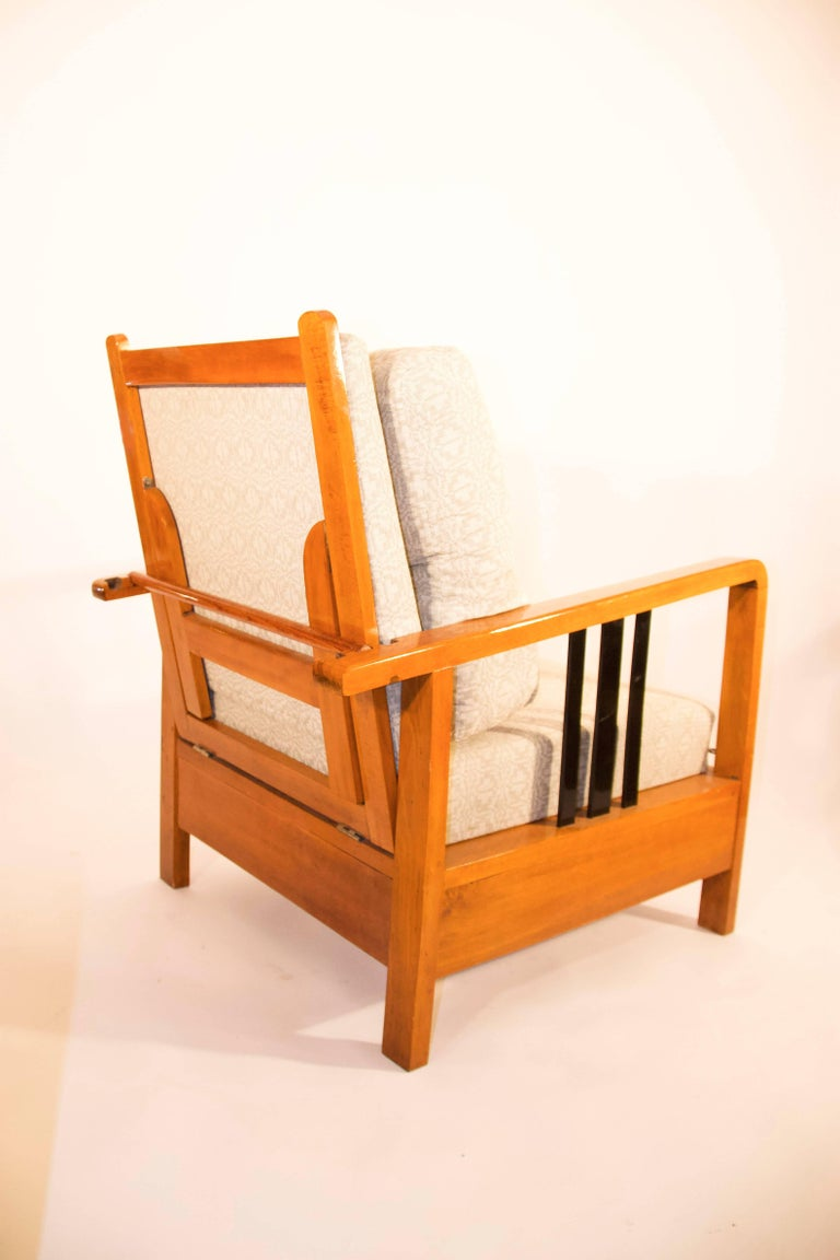 20th Century Rare, Kozma Lajos Art Deco Lounge Chair from the 1930s For Sale