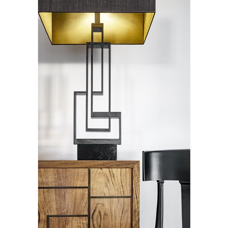 Contemporary Handcrafted Geometric Table Lamp