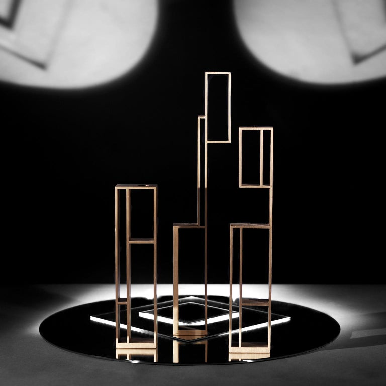 Contemporary Handcrafted Set of Candleholders