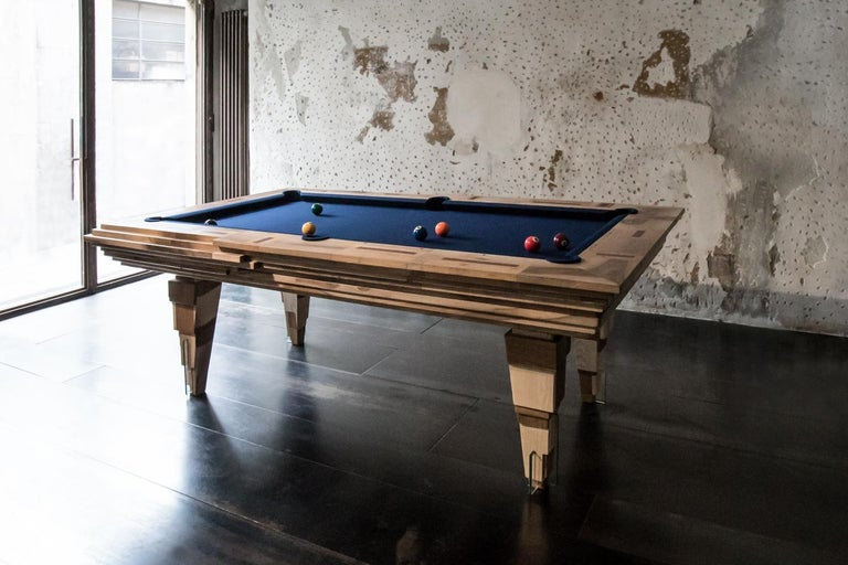 Other Contemporary Multifunctional Billiard or Game Table, Cocktail Table and Paravent For Sale