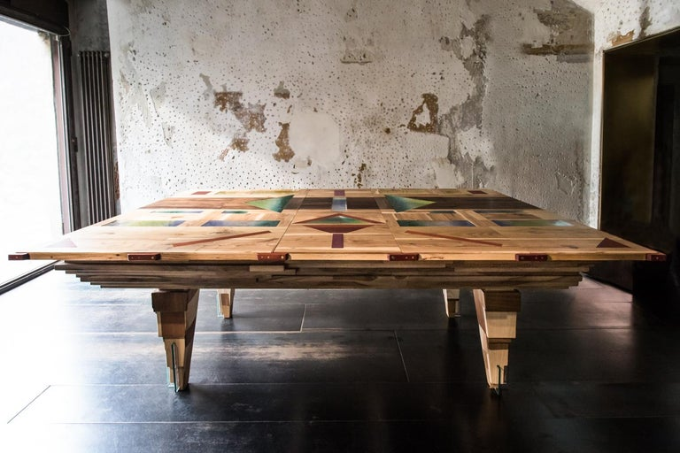 Contemporary Multifunctional Billiard or Game Table, Cocktail Table and Paravent In New Condition For Sale In Berlin, DE