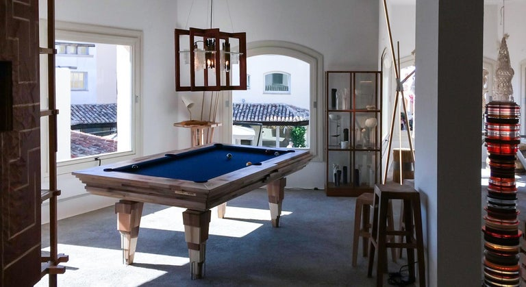Contemporary Multifunctional Billiard or Game Table, Cocktail Table and Paravent For Sale 11