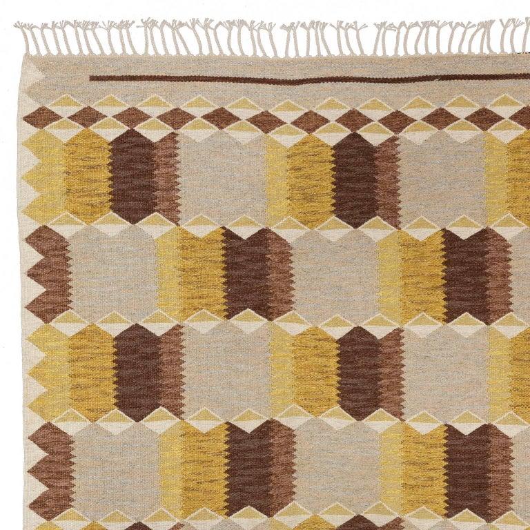 Mid-20th Century Scandinavian Rug Signed by Anna Greta Sjoqvist 'Sjökvist' For Sale 1