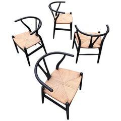 Hans Wegner Model CH24 Four Chairs