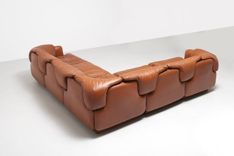 Confidential Sofa by Alberto Rosselli for Saporiti, 1970s For Sale 5