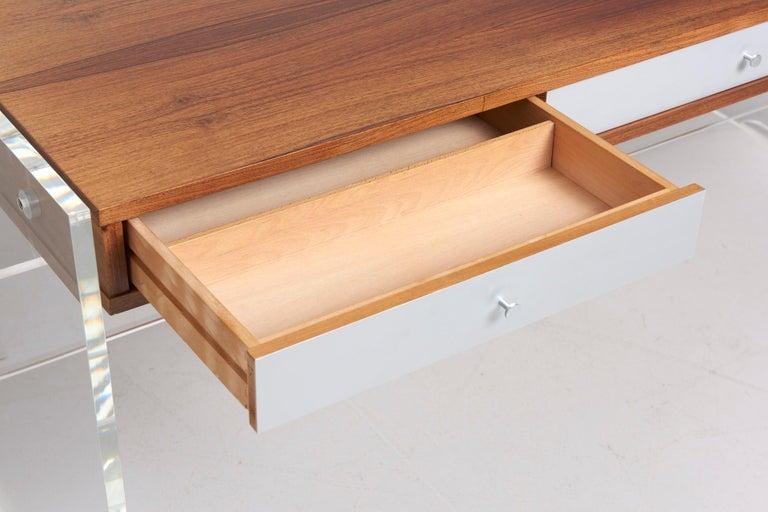 Mid-Century Modern Rosewood Desk by Danish Designer Poul Nørreklit, 1970s For Sale