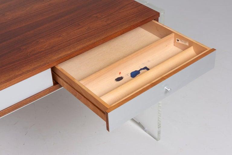 Late 20th Century Rosewood Desk by Danish Designer Poul Nørreklit, 1970s For Sale