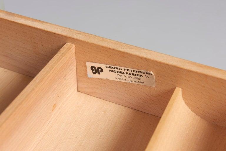 Plexiglass Rosewood Desk by Danish Designer Poul Nørreklit, 1970s For Sale
