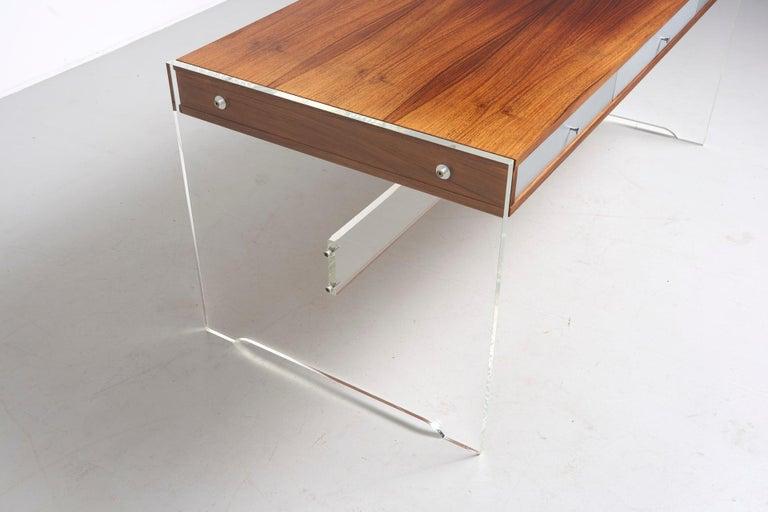Rosewood Desk by Danish Designer Poul Nørreklit, 1970s For Sale 2