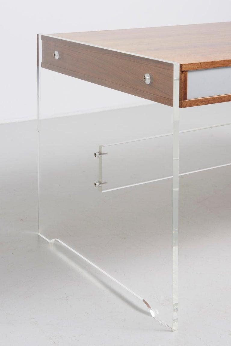 Rosewood Desk by Danish Designer Poul Nørreklit, 1970s For Sale 3