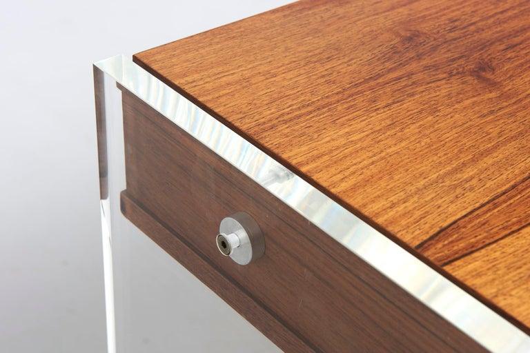 Rosewood Desk by Danish Designer Poul Nørreklit, 1970s For Sale 4