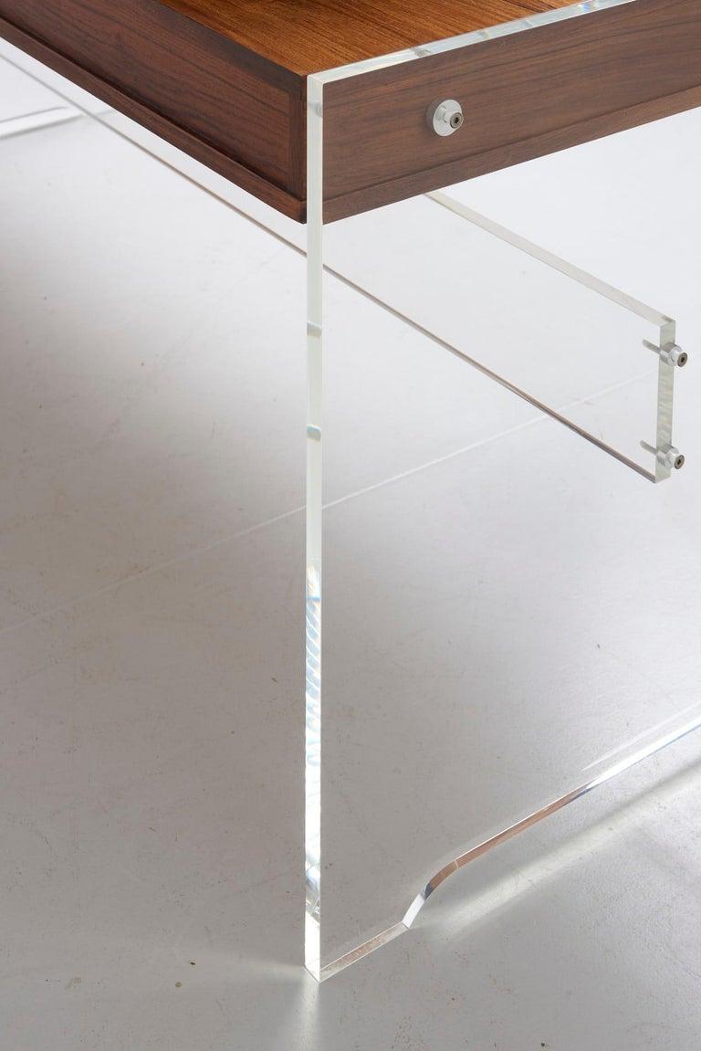 Rosewood Desk by Danish Designer Poul Nørreklit, 1970s For Sale 5